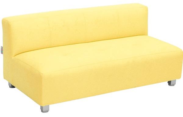 Wygodna kanapa Flexi w kolorze żółtym
