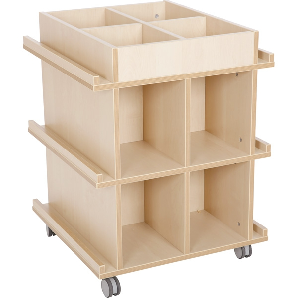 Biblioteczka Flexi na kółkach do świetlic i kącików aktywności