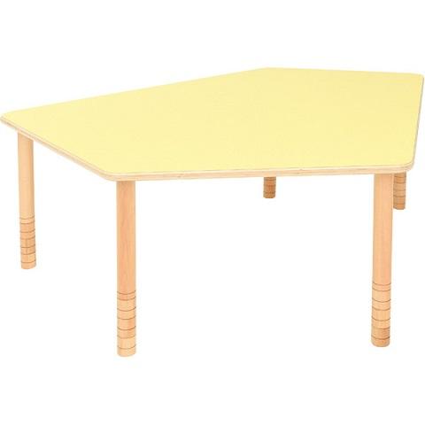 Pięciokątny, żółty stół Flexi