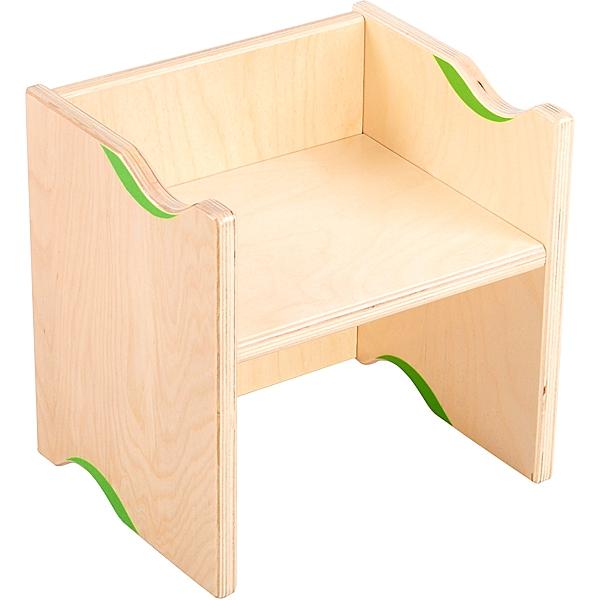 Krzesełko 2 w 1 spełniające także funkcję stolika po odwróceniu