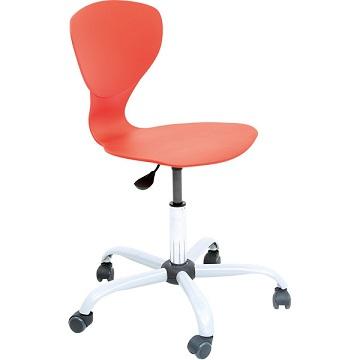 Krzesło Flexi z regulowaną wysokością czerwone
