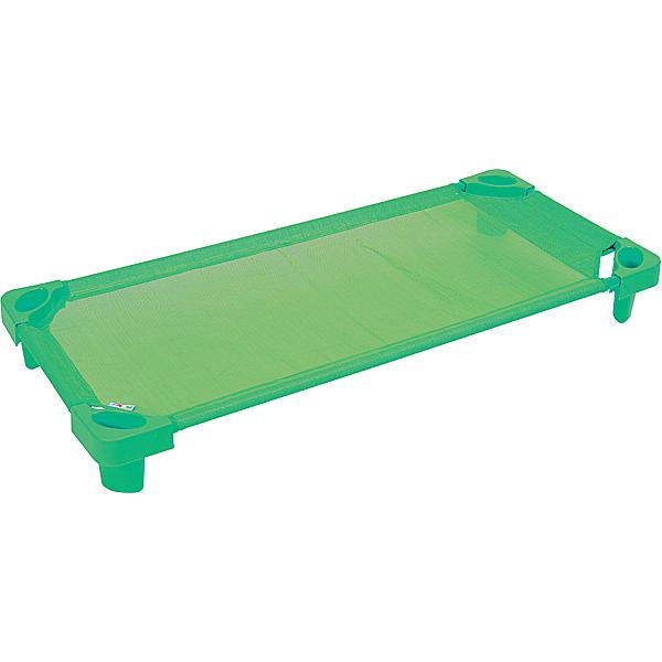 Łóżeczko przedszkolne w kolorze zielonym