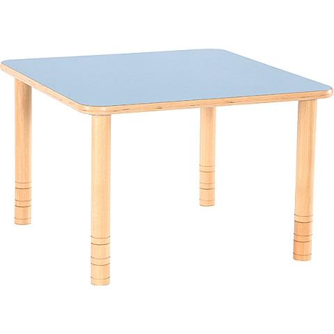 Niebieski kwadratowy stół Flexi