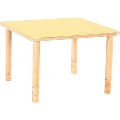 Stół Flexi kwadratowy z żółtym blatem
