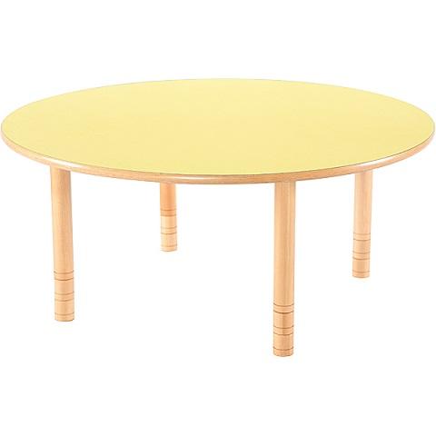Żółty okrągły stół Flexi