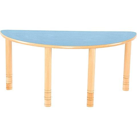 Półokrągły stół Flexi w kolorze niebieskim