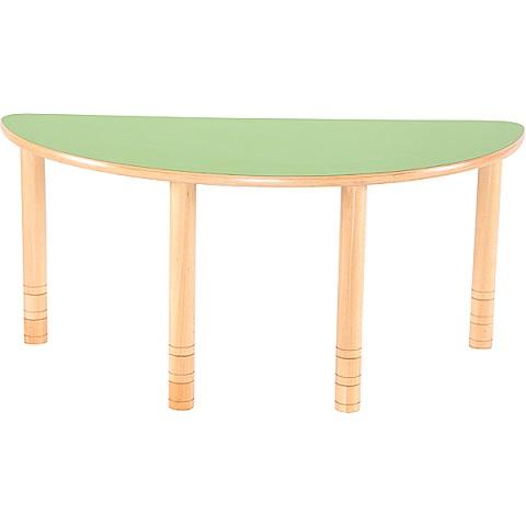 Półokrągły stół Flexi w kolorze zielonym
