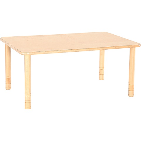 Bukowy prostokątny stół Flexi do placówek edukacyjnych