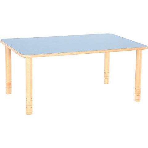 Niebieski prostokątny stół Flexi do placówek edukacyjnych
