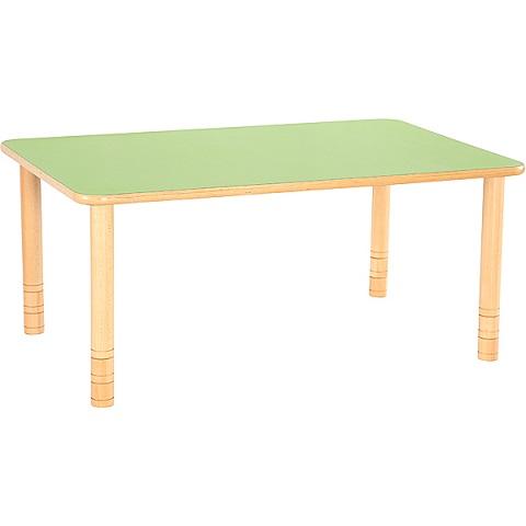 Zielony prostokątny stół Flexi do placówek edukacyjnych