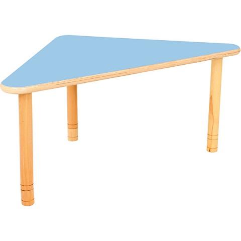 Trójkątny stół Flexi, niebieski blat