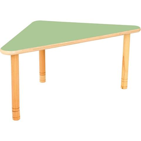 Trójkątny stół Flexi, zielony blat