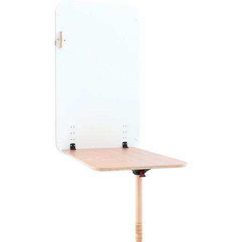 Stół przyścienny Flexi z bukowym blatem