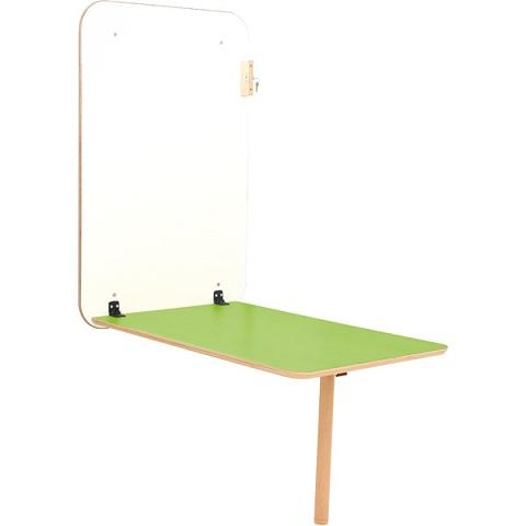 Stół przyścienny Flexi z zielonym blatem
