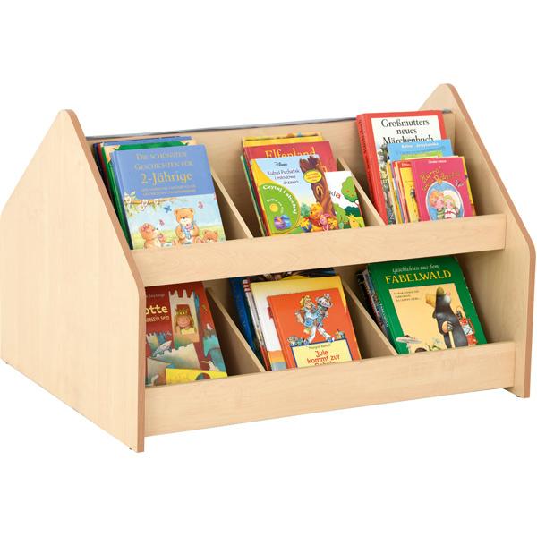 Biblioteczka na książki Flexi z ławeczką z drugiej strony