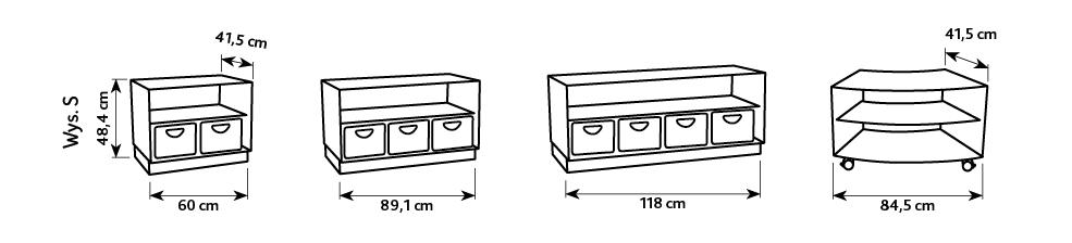 Wymiary szafek z kolekcji flexi S